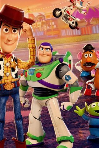 iPhone Papéis de Parede Toy Story 4, filme de desenho animado 2019