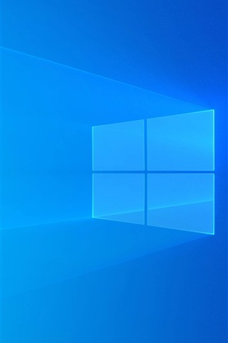 Windows 10 Blue Background Light Abstract Design 1080x1920
