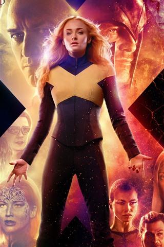iPhone Wallpaper X-Men: Dark Phoenix, 2019 movie