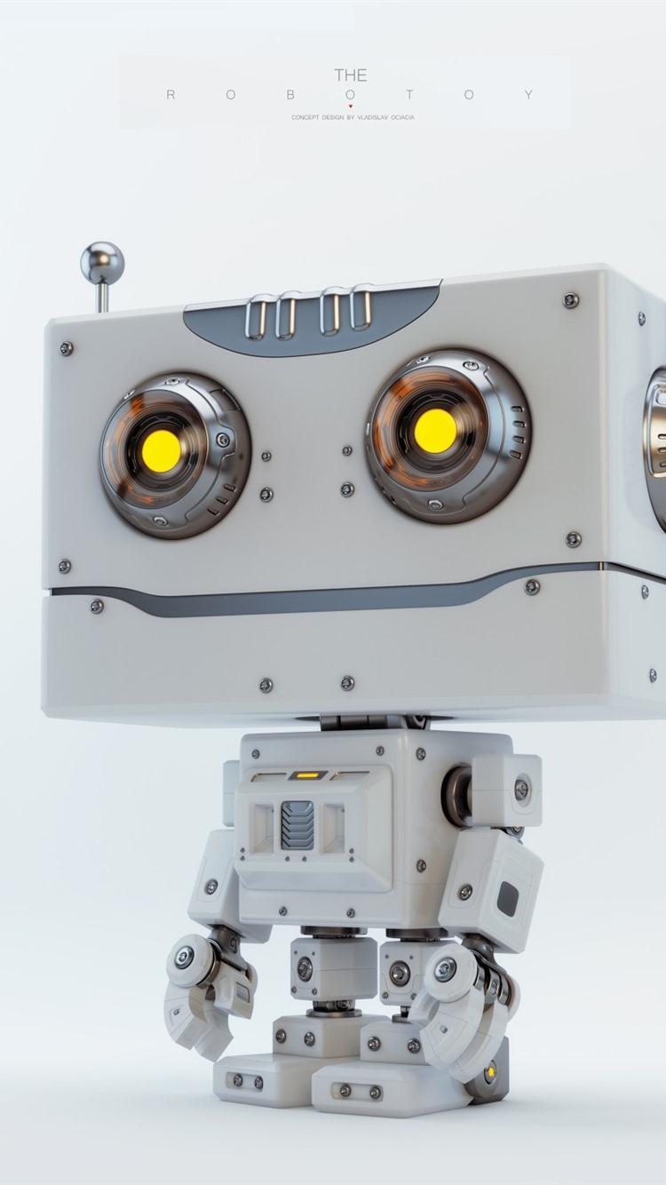 かわいいロボット 創造的なデザイン 750x1334 Iphone 8 7 6 6s 壁紙