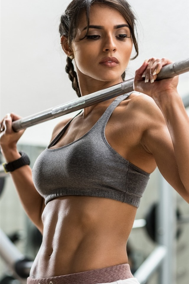 Fitness girl, gym, hands, look, sport 750x1334 iPhone 8/7/6/6S wallpaper,  background, picture, image