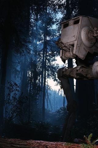 iPhone Papéis de Parede Floresta, robô, Star Wars: Battlefront