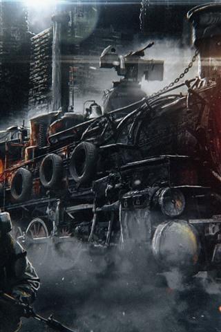 iPhone Papéis de Parede Metro: Êxodo, trem, jogo