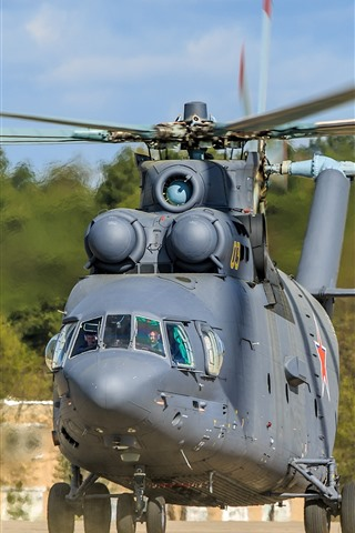 iPhone Wallpaper Mi-26 helicopter front view