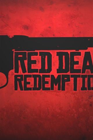 iPhone Papéis de Parede Red Dead Redemption 2, revólver