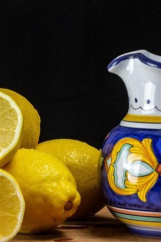 iPhone Wallpaper Some lemons, kettle