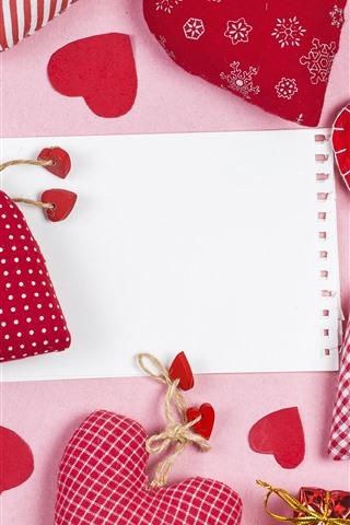 iPhone Обои Некоторые любят сердца, украшения, подарок, бумага