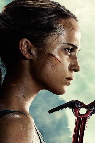 iPhone Wallpaper Tomb Raider, Lara Croft, movie