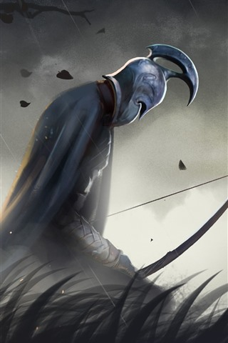 iPhone Papéis de Parede Guerreiro, espada, grama, guerra