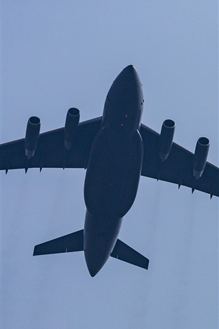 iPhone Wallpaper Chinese aircraft, fighter, sky