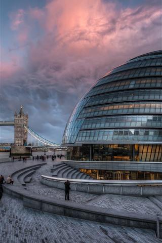 iPhone Wallpaper England, London, River Thames, Tower Bridge, buildings