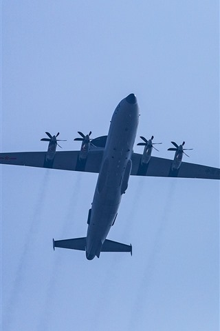 iPhone Wallpaper Fighter, flight, sky, China