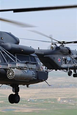 iPhone Wallpaper Mi-8 multipurpose helicopters