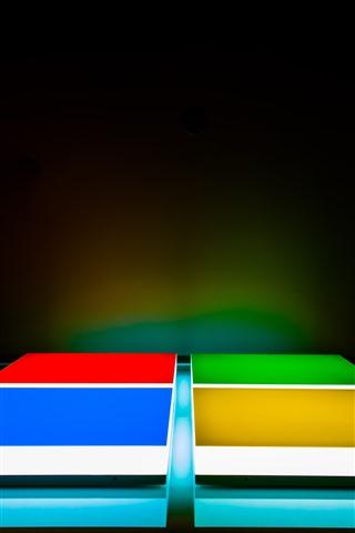 iPhone Papéis de Parede Logotipo da Microsoft, design criativo, cores