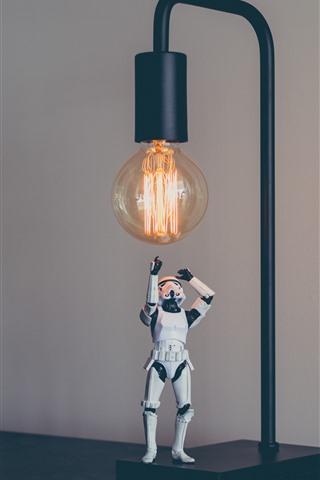 iPhone Wallpaper Stormtrooper, toy, Star Wars, lamp