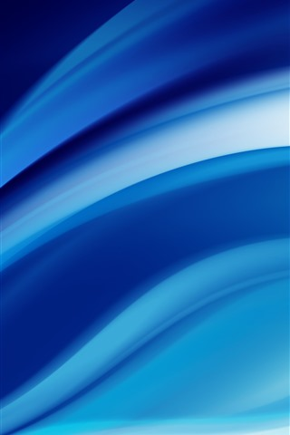 iPhone Wallpaper Abstract blue lines, curve