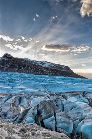 Blue Ice Glacier Mountain 640x1136 Iphone 5 5s 5c Se