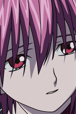 iPhone Wallpaper Elfen Lied, sadness girl, anime