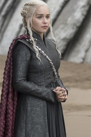 iPhone Wallpaper Game of Thrones, Daenerys Targaryen, look, TV series