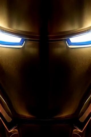 iPhone Обои Железный человек, лицо, маска