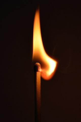 iPhone Wallpaper Match flame, fire, light