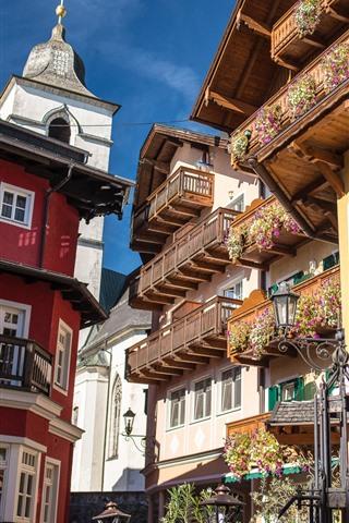 iPhone Wallpaper St. Wolfgang, market town, Austria