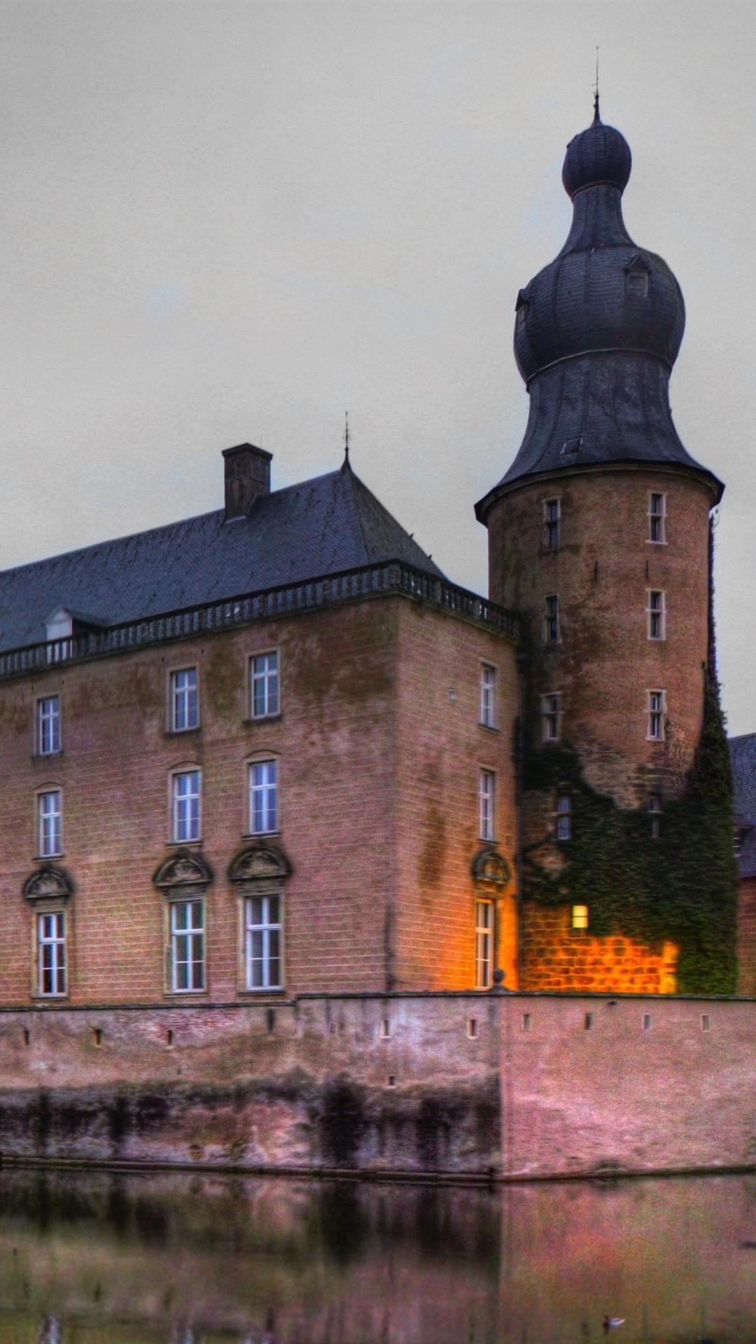 Обои дома, гамбург, германия, ночь, башня, кран. Города foto 10