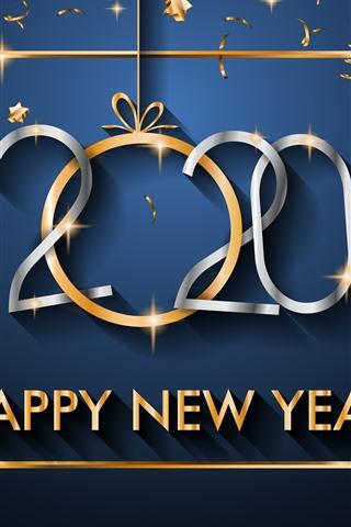 Frohes Neues Jahr 2020 Sterne Golden 1242x2688 Iphone Xs
