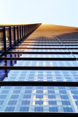 iPhone Wallpaper High building, windows, glass, sunshine
