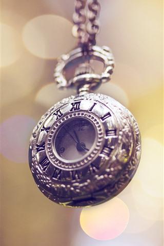 iPhone Wallpaper Pocket watch, light circles