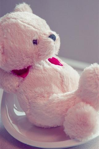 iPhone Wallpaper Teddy bear, pose, funny
