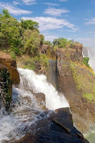 iPhone Wallpaper Waterfall, rainbow