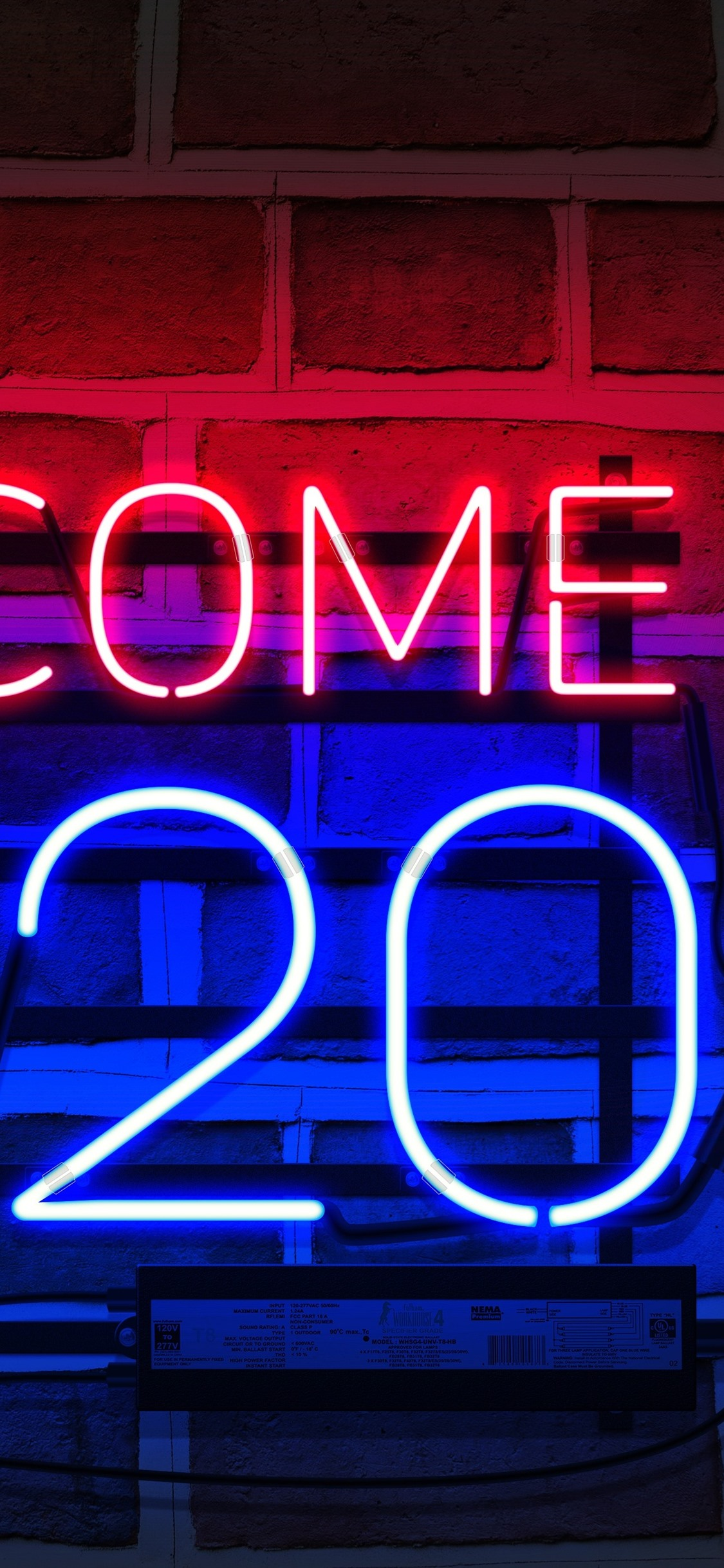 Welcome 2020 New Year Neon 1242x2688 Iphone 11 Pro Xs Max Wallpaper Background Picture Image