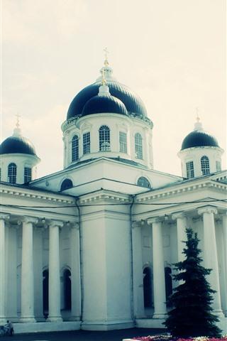 iPhone Wallpaper Arzamas, church, Russia