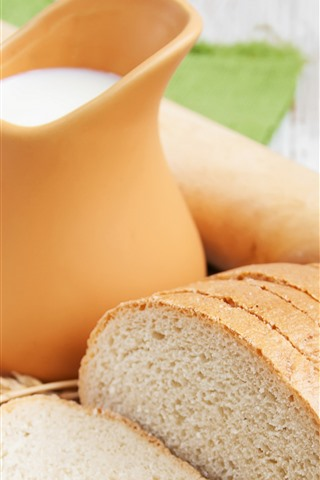 Bread Slices Milk Eggs 1242x2688 Iphone Xs Max Wallpaper