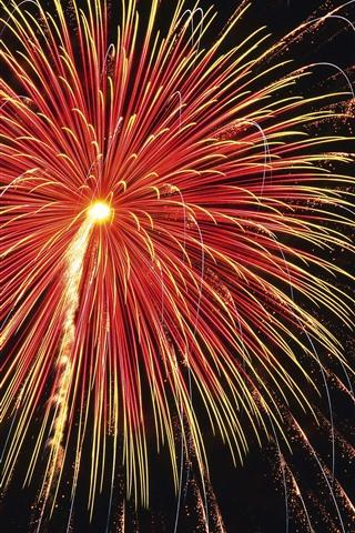 iPhone Papéis de Parede Fogos de artifício, faíscas, noite, linda