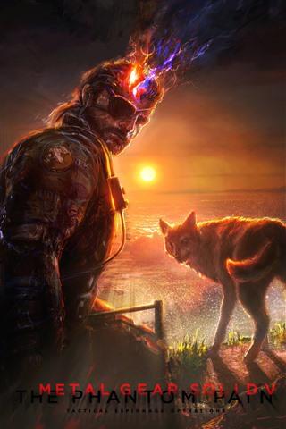 iPhone Wallpaper Metal Gear Solid, art picture