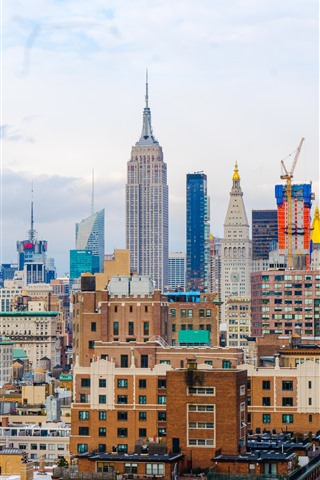New York Skyscrapers Usa Cityscape 1242x2688 Iphone 11 Pro Xs Max Wallpaper Background Picture Image