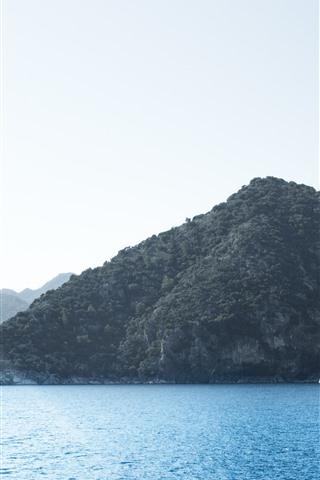 iPhone Wallpaper Sea, mountains, islands