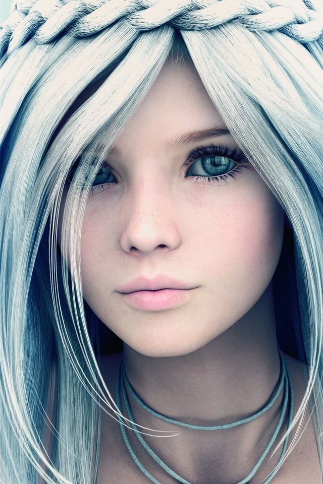 Wallpaper Beautiful Fantasy Girl Blue Eyes Braids 2560x1440 Qhd Picture Image