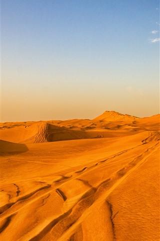 iPhone Wallpaper Desert, sands, sky, clouds, hot