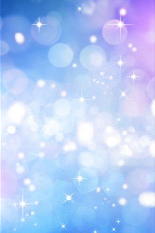 iPhone Wallpaper Stars, light circles, glare, colorful, abstract