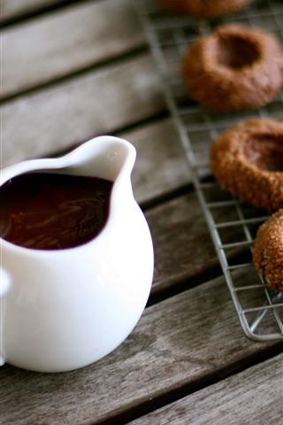 iPhone Wallpaper Tea, chocolate cookies