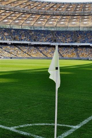 iPhone Wallpaper Football ground, green meadow