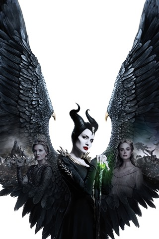 iPhone Papéis de Parede Malévola: Senhora do Mal, Angelina Jolie