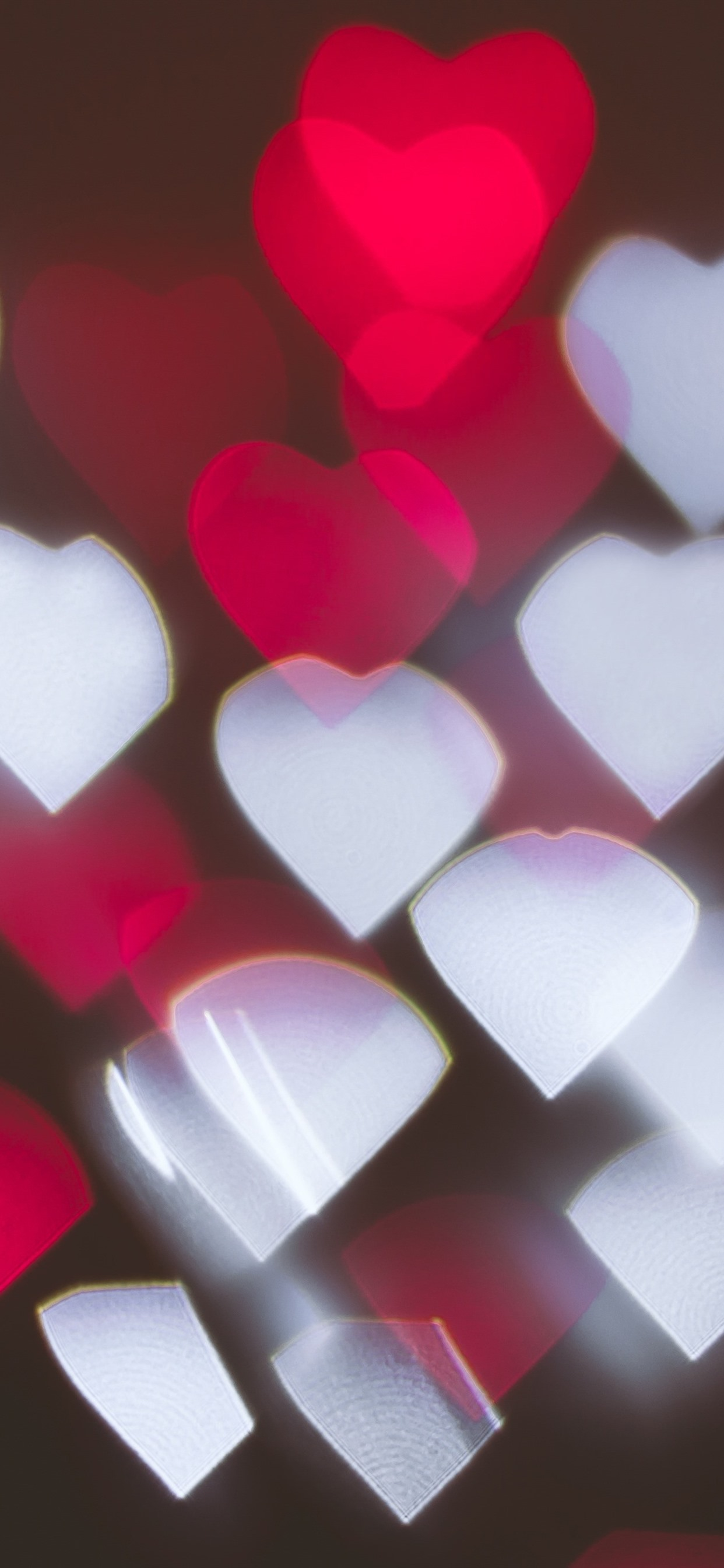 Many Red And White Love Hearts Light Abstract 1242x2688 Iphone