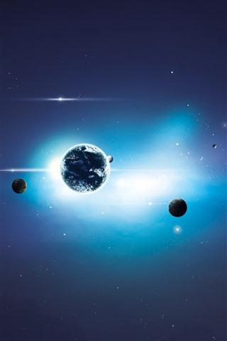 iPhone Papéis de Parede Sistema solar, planetas, universo