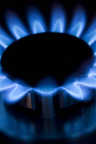 iPhone Wallpaper Burner, gas, blue fire, flame