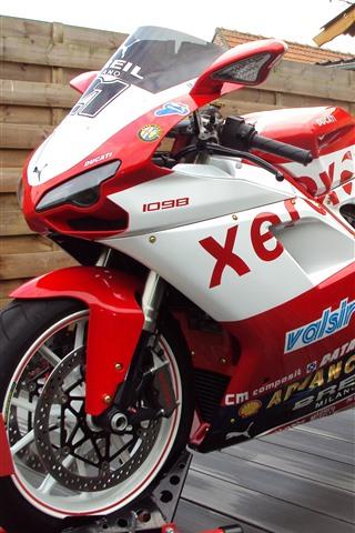 iPhone Wallpaper Ducati 1098 motorcycle