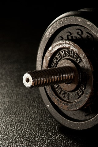 iPhone Wallpaper Dumbbells, rusty, fitness, gym